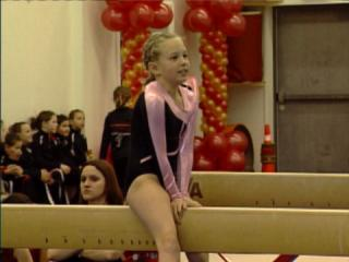 Gymnast Compete at Bella Tucker Charity Meet