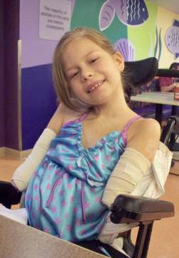 Bella Tucker, 9, of New Hampshire, lost her arms and legs after getting a near-fatal infection last year.