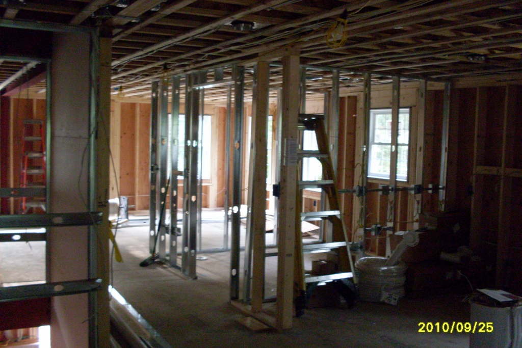 Contruction being done on inside of Bella Tuckers house.