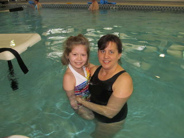 Bella Tucker Swimming with Ms. Deb